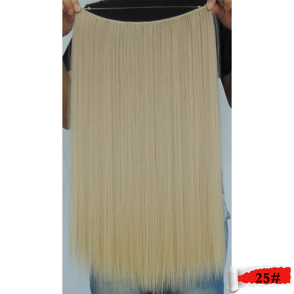 flip in hair weaving 20 inch 50g flaxen color 25 straight secret extensions sintetico mega false haar extension cheveux aplique