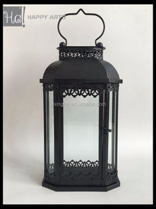 Antique Iron metal Candle holder lantern for garden