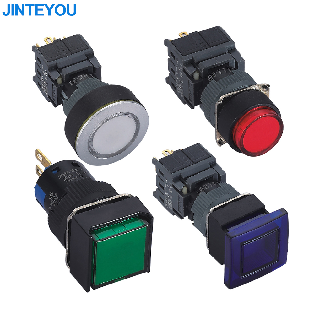 Micro LED Illuminated Plastic Push Button Switch