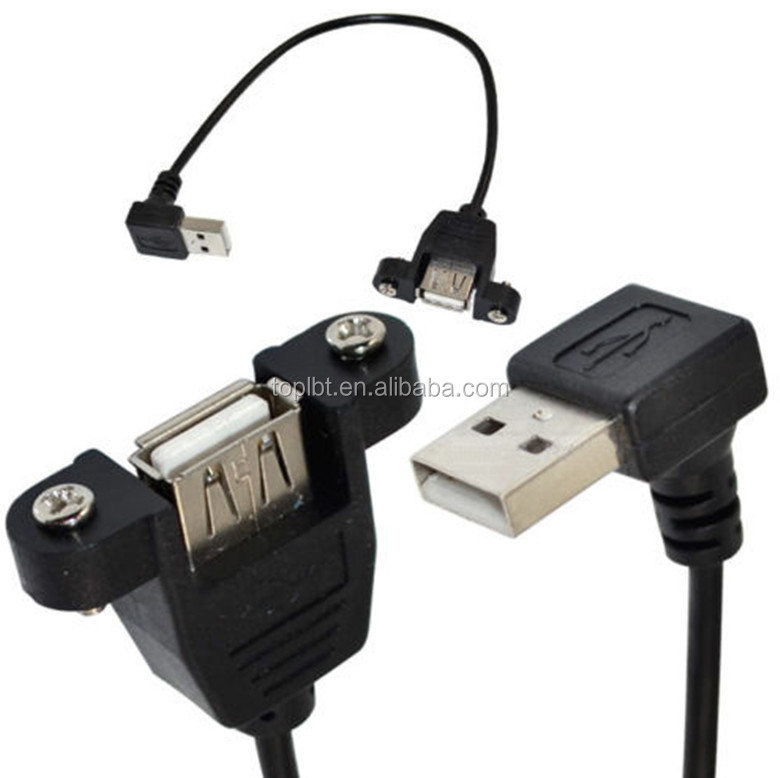 Mount pannel usb cable with lock screw