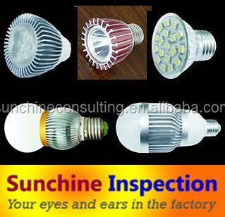 Led light bulb Quality Inspection Service and Factory Inspection in China
