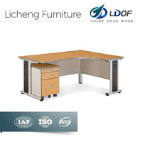 Wood office table furniture /L-shaped office table file cabinet