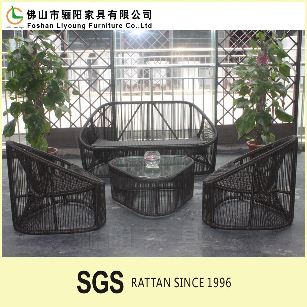 Garden Pe Plastic Wicker Patio Rattan Sofa Table Outdoor Furniture ...