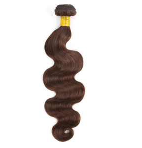 Dark brown light brown tone hair weave color #4 remy hair extensions/brazilian hair style picture