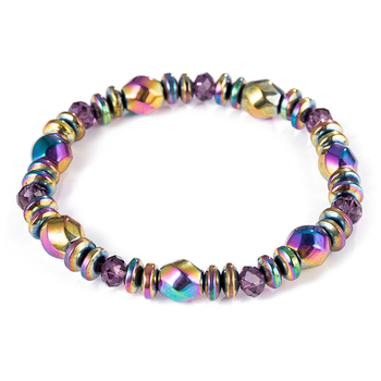 Colorful Hematite Magnetic Bracelet For Weight Loss Slimming Bangles Black Gallstone Health Care Accessories (KB8066)