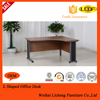 Corner office desk with steel legs/china office furniture working table