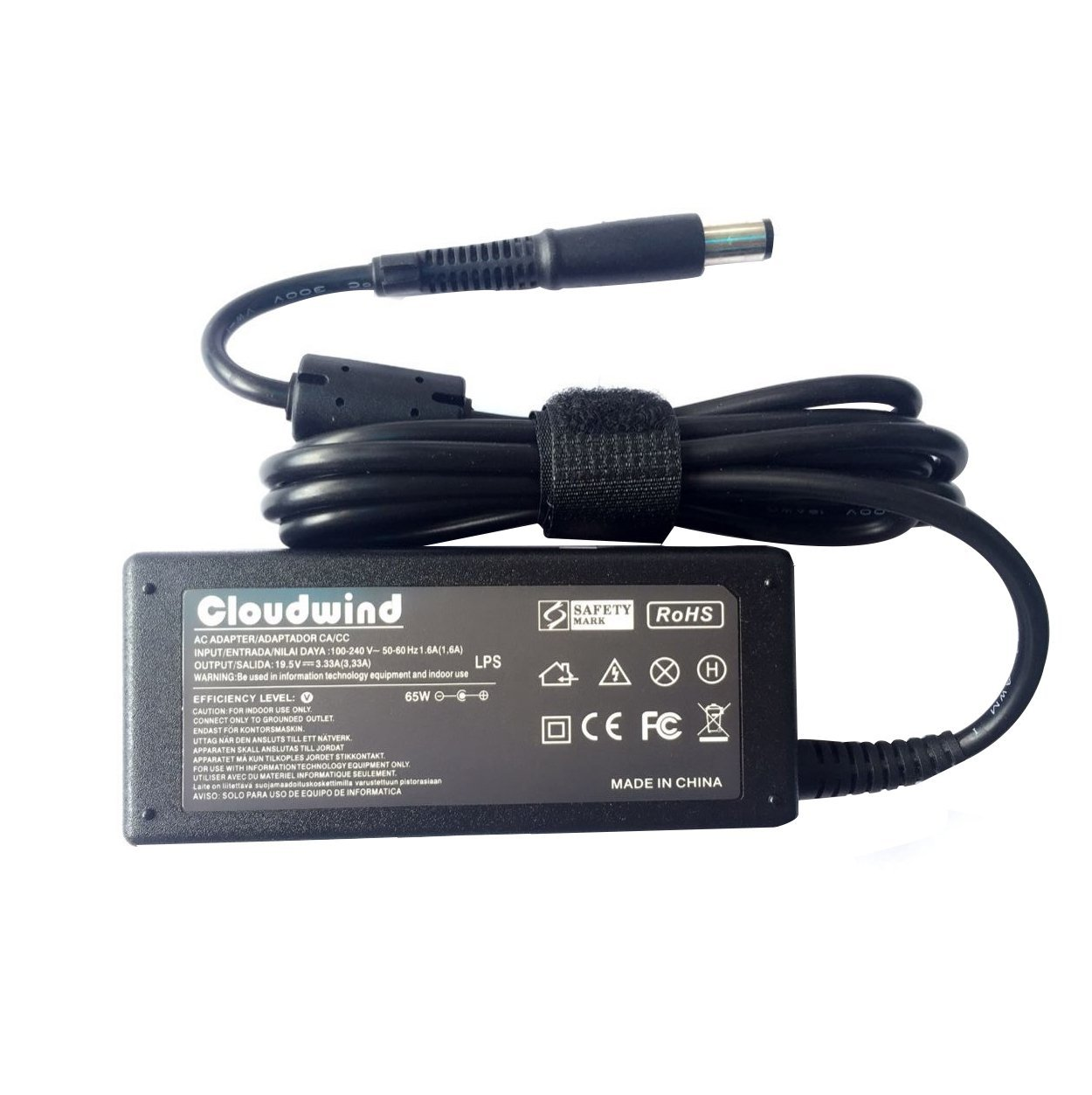 Cloudwind 19.5V 3.33A 65W Replacement AC Adapter for For HP 677774-001 2000-2C29WM 2000-2B19WM 693711-001,HP Compaq,Dv6,Dv7 Series Laptop, AC Adapter Charger Power Cord Included.