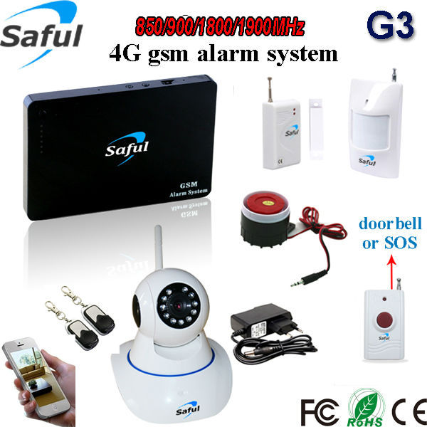 GSM-G3 2g|3g|4g ip wireless burglar <strong>alarm</strong> system smart home <strong>alarm</strong> with WiFi| IP camera