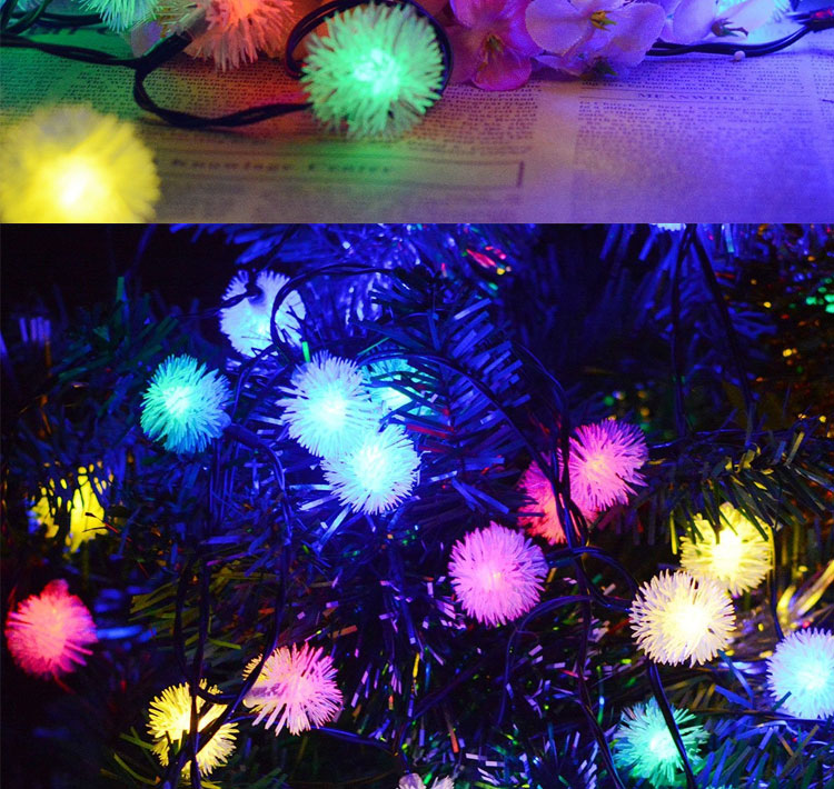 Solar Powered String Lights Chuzzle Ball Fairy Christmas Lighting Decor For Outdoor, Indoor, Garden, Patio, Bedroom,Wedding