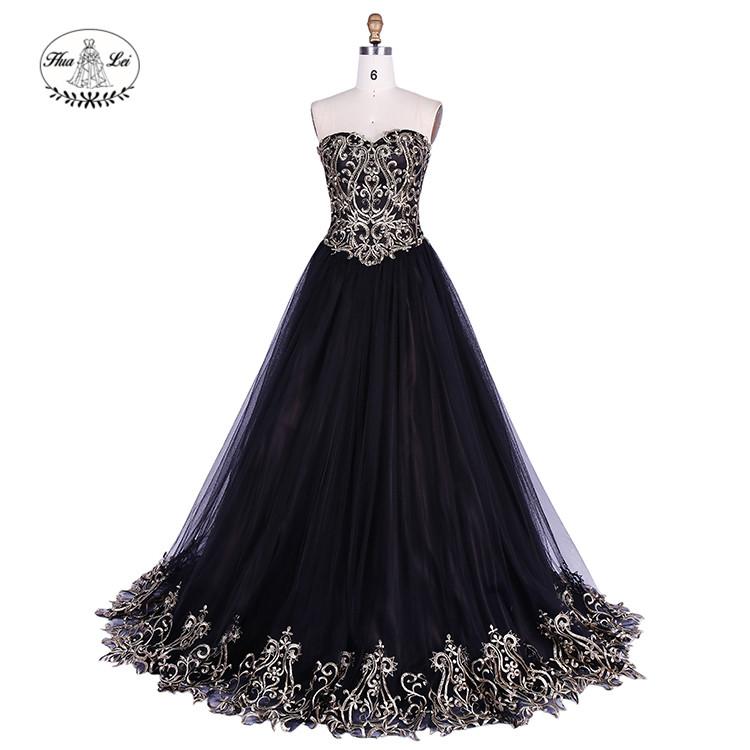 उच्च गुणवत्ता वाले काले शाम पोशाक 2 Piece प्रोम पोशाक
