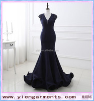 Hot Prom Dark Blue Women Dress Thick Fabric Dark Blue Women Dress