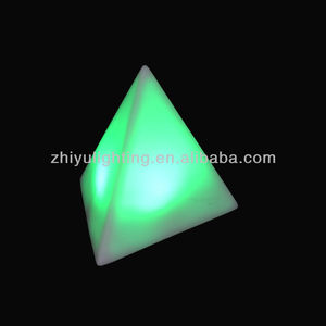 Mini led lights for crafts color changing battery powered triangle night light