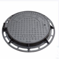Heavy Duty En124 D400 Round Cast Ductile Iron Manhole Cover With Frames