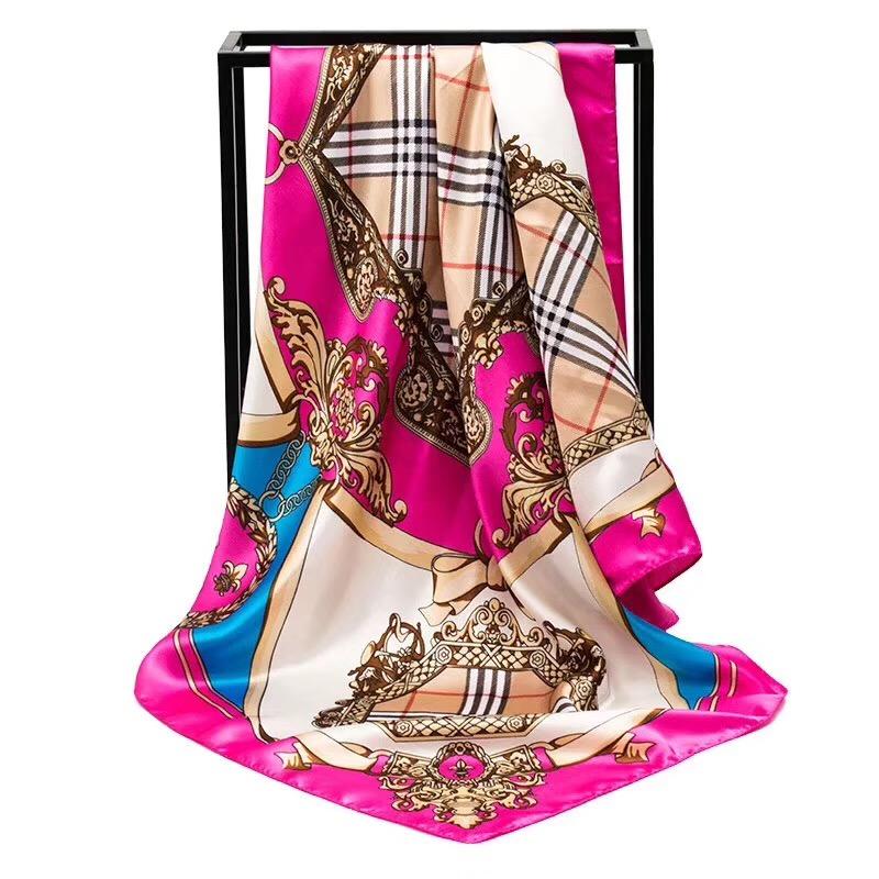 Riêng thiết kế tuỳ chỉnh kỹ thuật số 100 satin quảng trường in ấn bán buôn trung quốc khăn lụa cho nhuộm