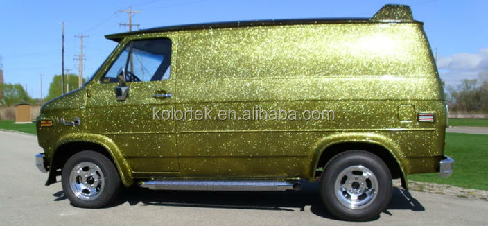 Kolortek Gold Metal Flakes For Car Paint Metal Flake Auto Paint