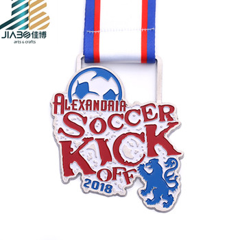 Personalized China supplier cheap soccer carnaval medal animal medallion