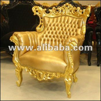 Luxury Fabulous Modern Gold Baroque Living Room Sofa Sets
