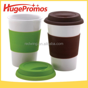 Reusable Plastic Coffee Cups With Silicone Lid Colorful Mugs