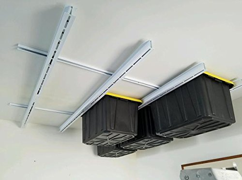 Rack N Rail - Over Head Garage Storage; Overhead Shelving. Store Bins, Totes, Boxes, Etc... Out of your Way