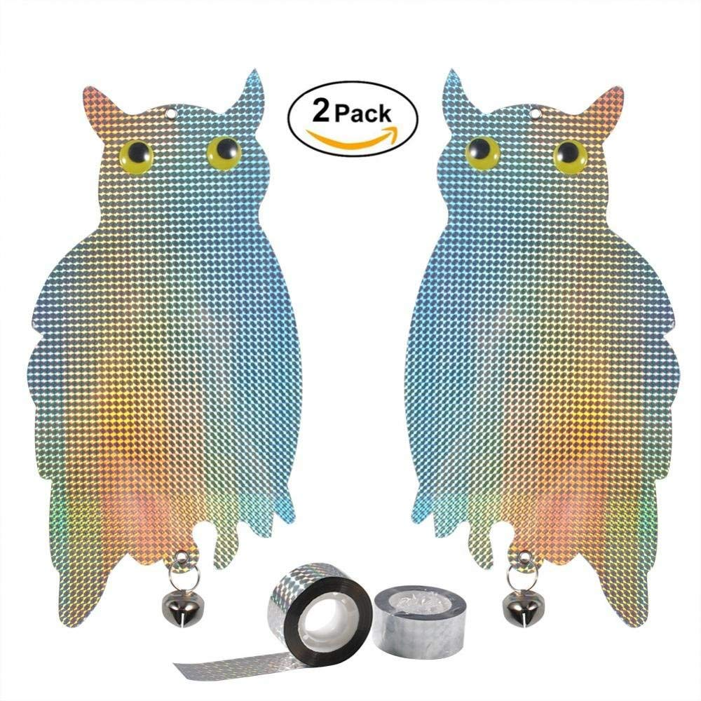 Superieur Get Quotations · GOTOTOP Hanging Owl Bird,2Pcs Hanging Owl Repellent  Effective Realistic Full Deterrence To Scare Birds