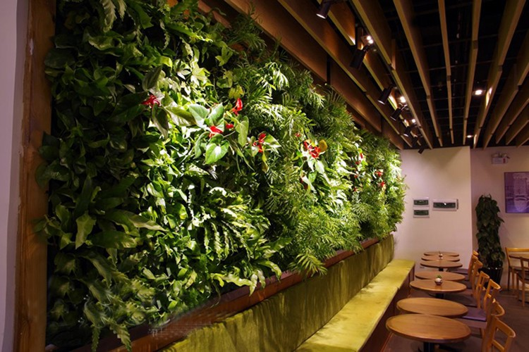 Plastic climbing walls outdoor artificial vertical wall for Outdoor vertical wall garden