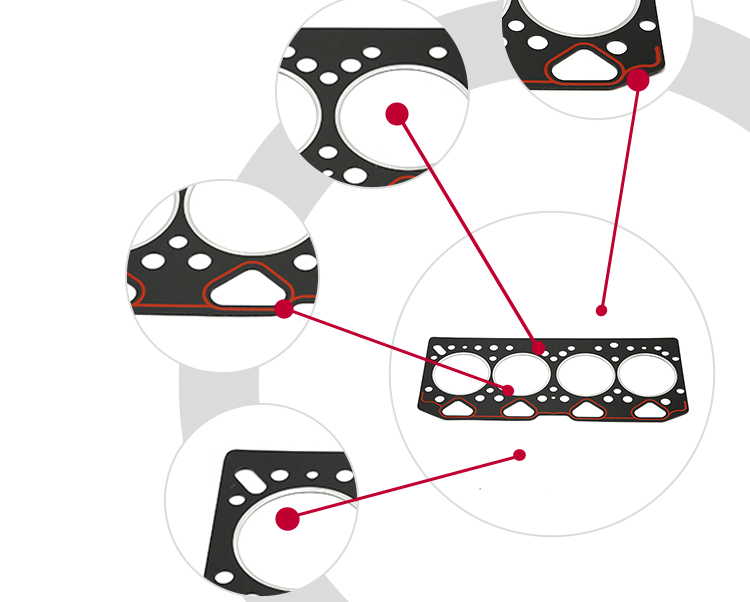 U5LT1178 gasket set with good price and good quality for tractor