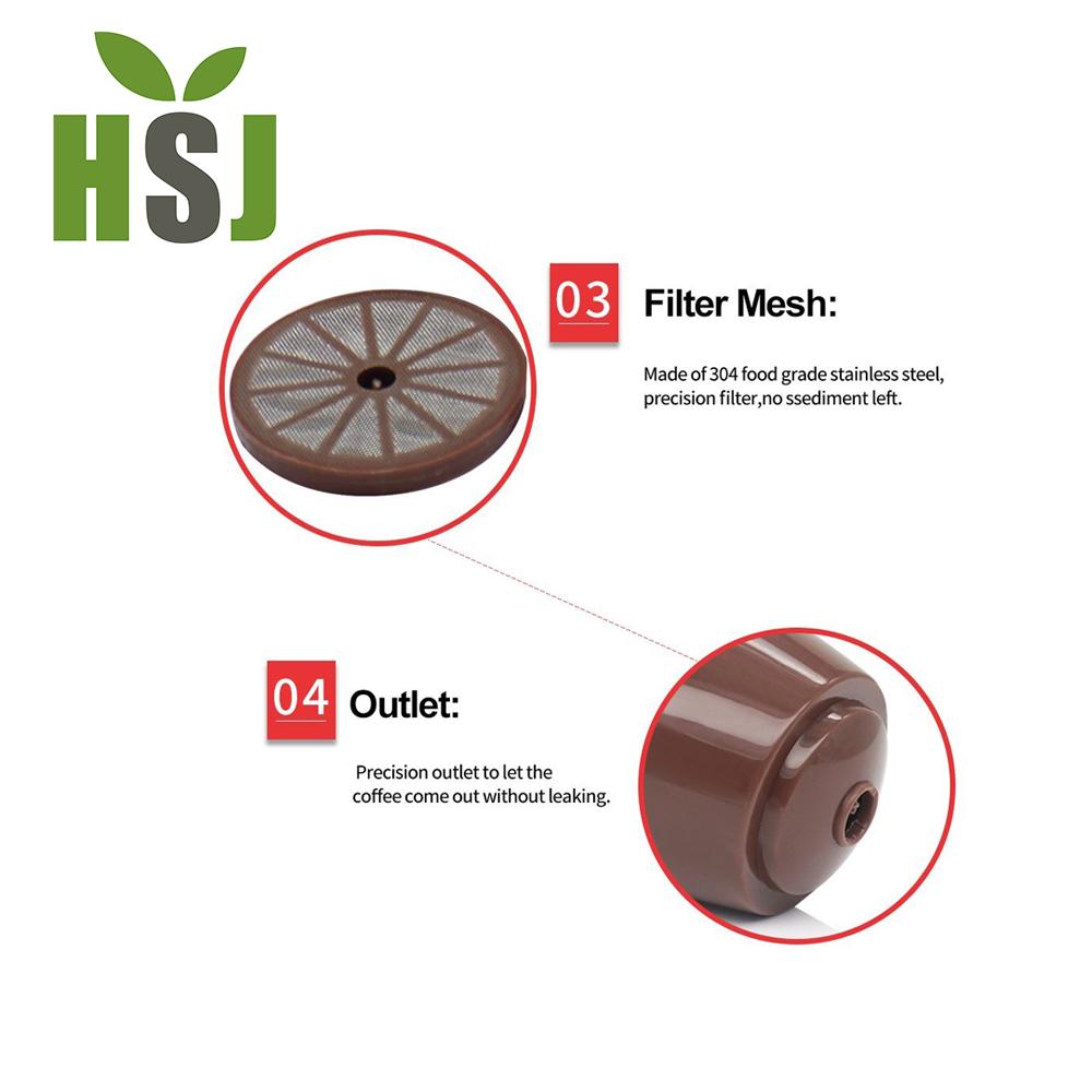 Top vendita servizio DELL'OEM di plastica riutilizzabile caffè filtro per dolce gusto