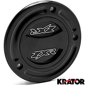 Krator Black Keyless Gas Cap Twist Off Fuel Tank Cap Logo For Kawasaki Ninja ZX-6R 2000-2015