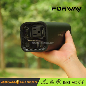Portable 100 Wh SOS led light emergency led light and 110V socket output solar charger and battery pack