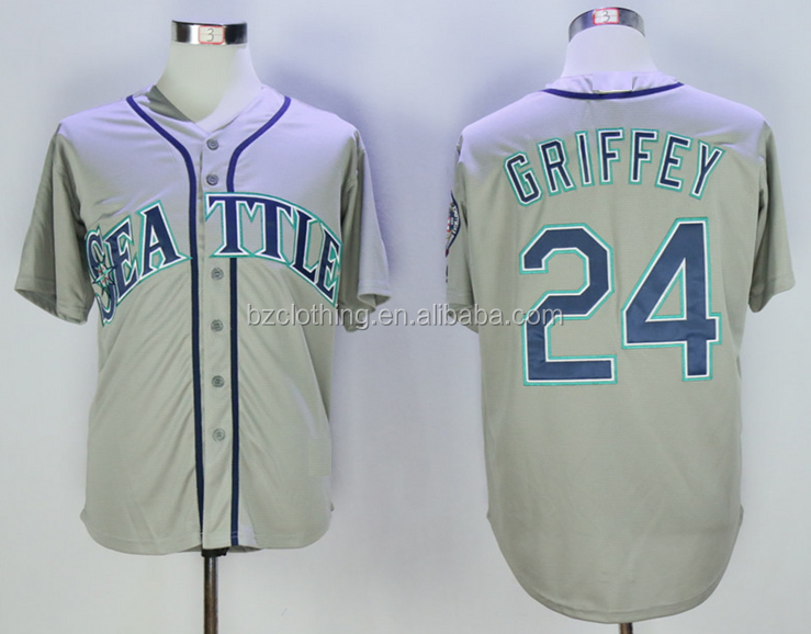 Seattle Mariners Ken Griffey Jr. Gray Cool Base Player Jersey