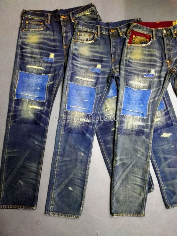 eadd34ea8b0e4 new model Super Skinny Fit black Distressed denim man jeans pant with Rip  Knee brand logo