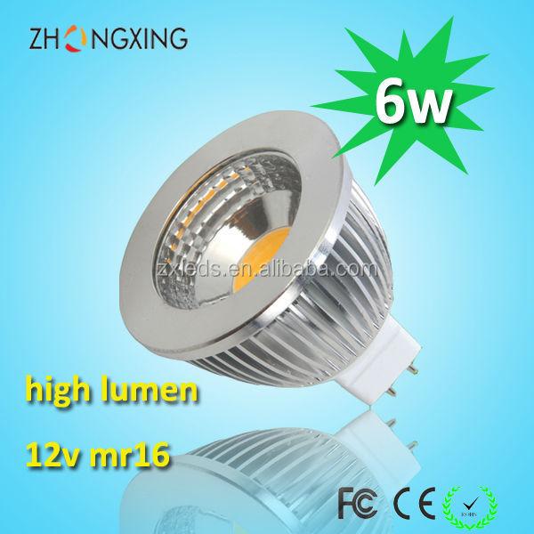 6w Dc 12v 24v Behuizing Dimbaar 6 Watt MR 16 LED-spot-Led