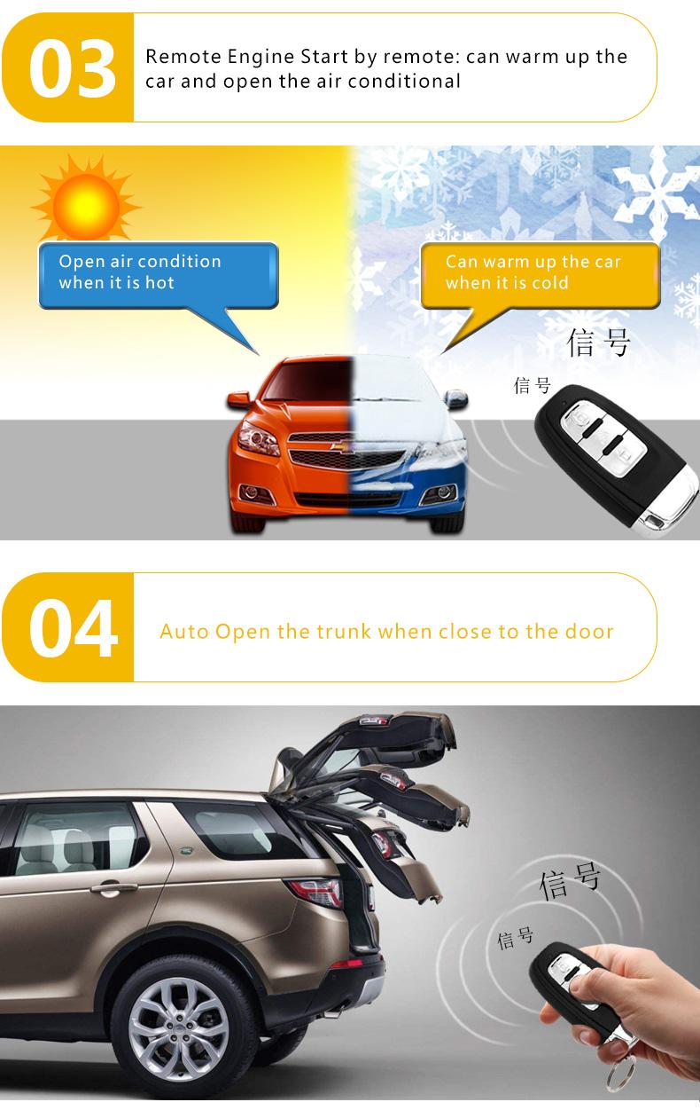 Smart Key Pke Car Alarm Auto Security Remote Engine Starter Remot Motor