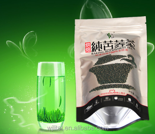 custom printed laminated middle seal side gusset empty tea bag