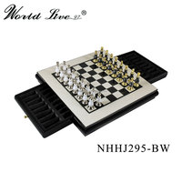 New arrived retro metal chess set metal chess pieces for home