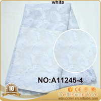 white tulle lace french net lace for weeding dress A11245-4