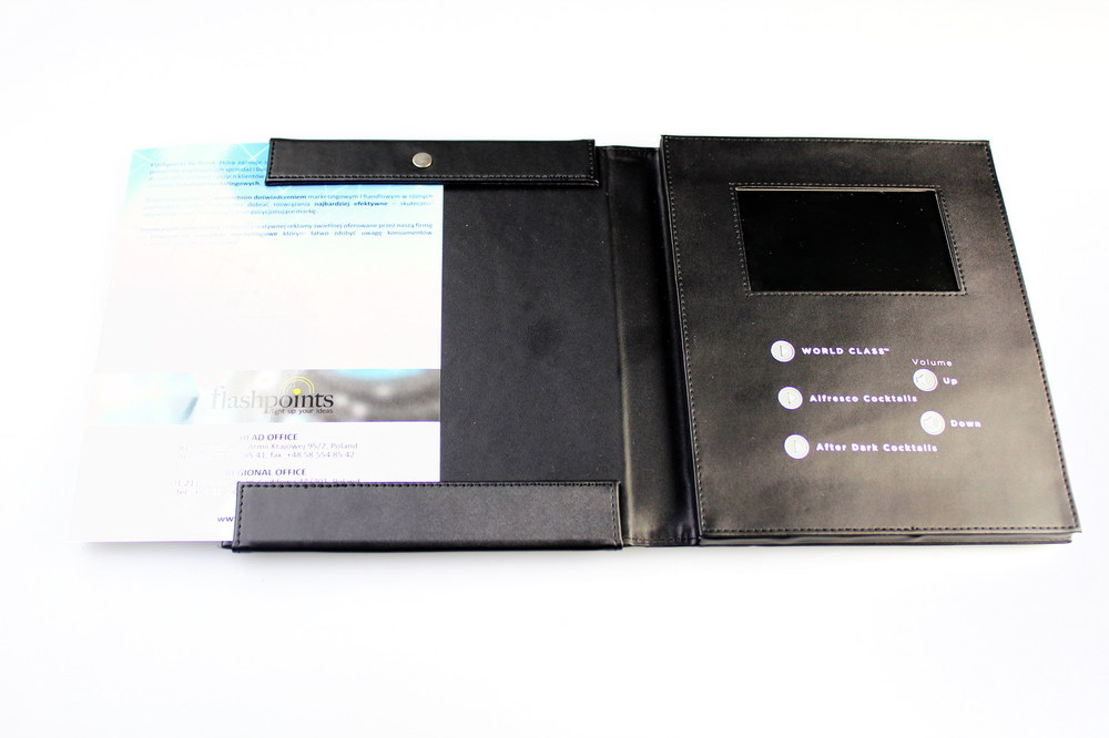 Chinese promotional items lcd video brochure card & Video wedding invitation card