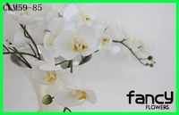 Made in China online buy artificial flowers arrangement for decorations high quality artificial white orchids in silk material