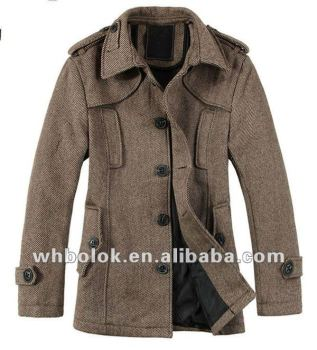 Heren Wollen Winterjas.Oem Fabriek Heren Modieuze Winter Lange Twill Wollen Jas Buy