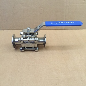Stainless Steel 316L DN40 Encapsulated Tri-Clamp Ball Valve With PTFE Gasket