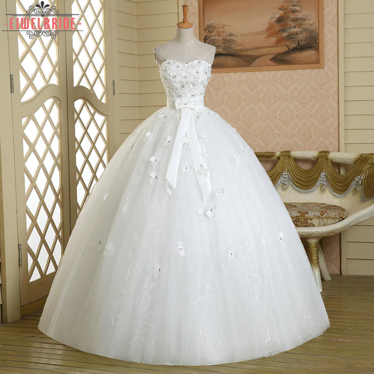 Putih Appliqued Wedding Dresses Gaun Pengantin