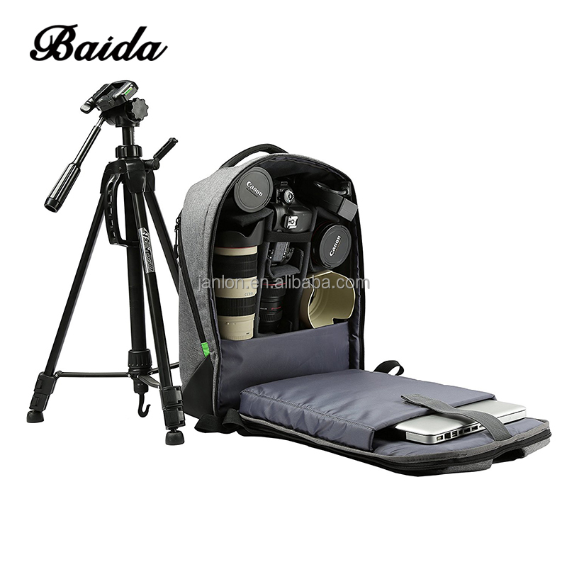 New Polyester Outdoor Large DSLR SLR Backpack Padded Camera Bag Video Photo Photography Waterproof Backpack for Lens and Accesso