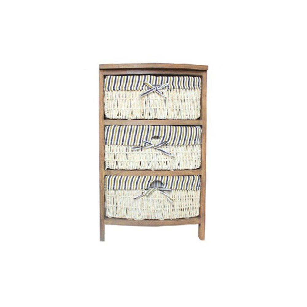 PM-Nightstands Nightstands Solid Wood Bedside Table Vineyard Storage Cabinet Locker Bedroom Side Cabinet (Color : C)