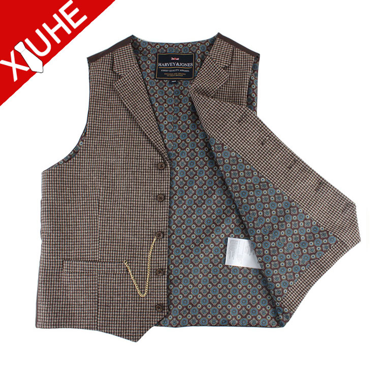 100% Gilet de laine sur mesure made men