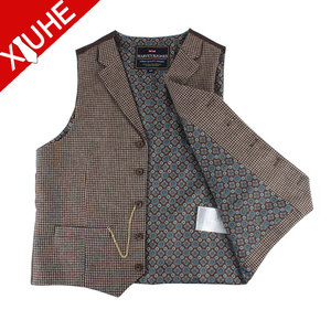 100% wool custom tailored made men's Waistcoat