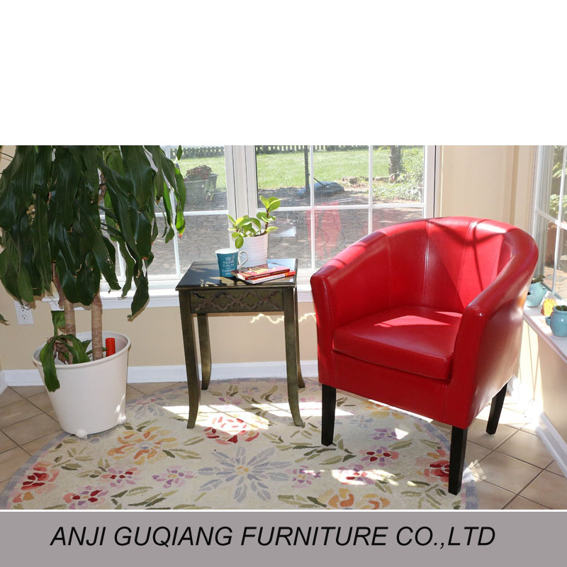 Wooden Frame Leather Round Tub Chair - Buy Wooden Frame Tub Chair ...