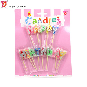 Customized 26 letters alphabet happy birthday candle