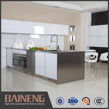 Modern Stainless Steel Dapur U Ditawarkan Dari Guangzhou Kabinet Pemasok