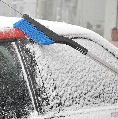 2 in 1 car use ice scraper with snow brush
