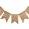 Jute Products Burlap Garden Flag Pennant Flag for Wedding Festival Party Decoration